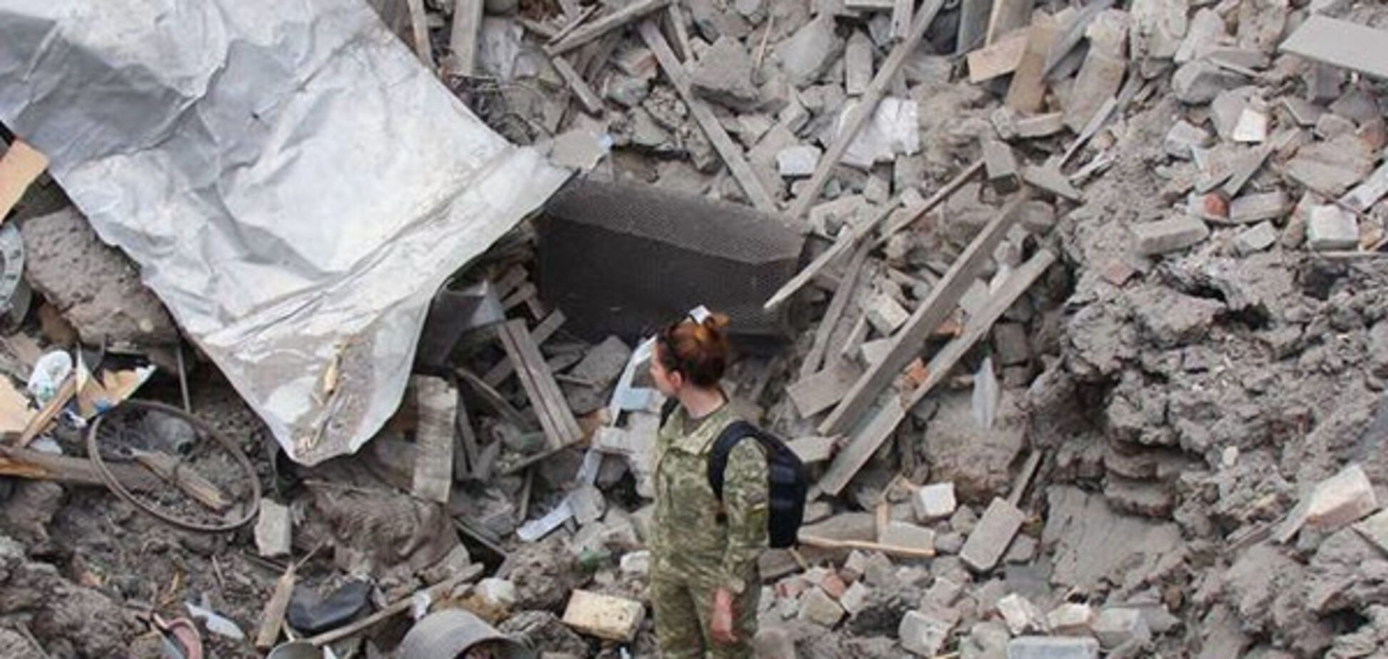 Обстрел боевиков на Донбассе