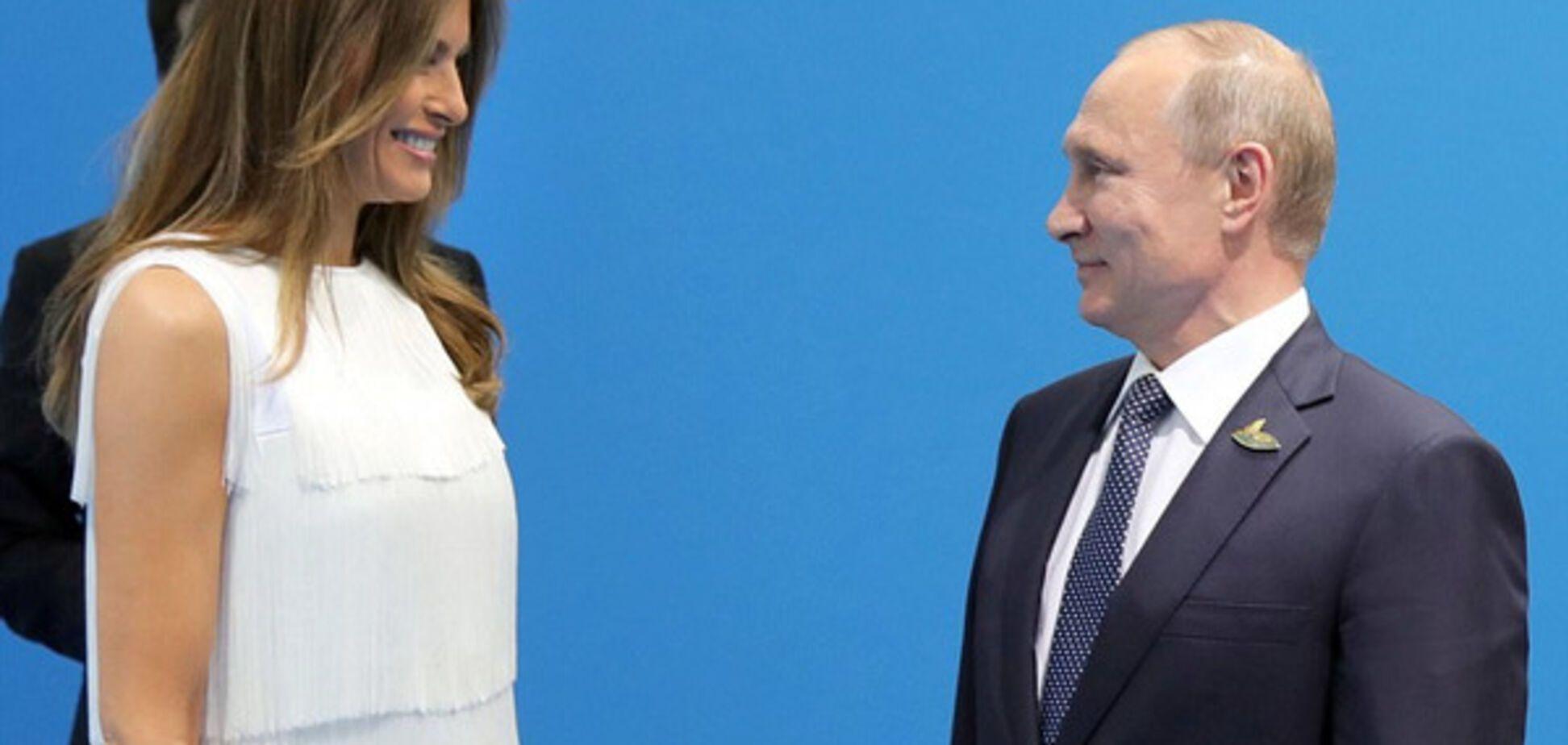 Меланья Трамп и Владимир Путин