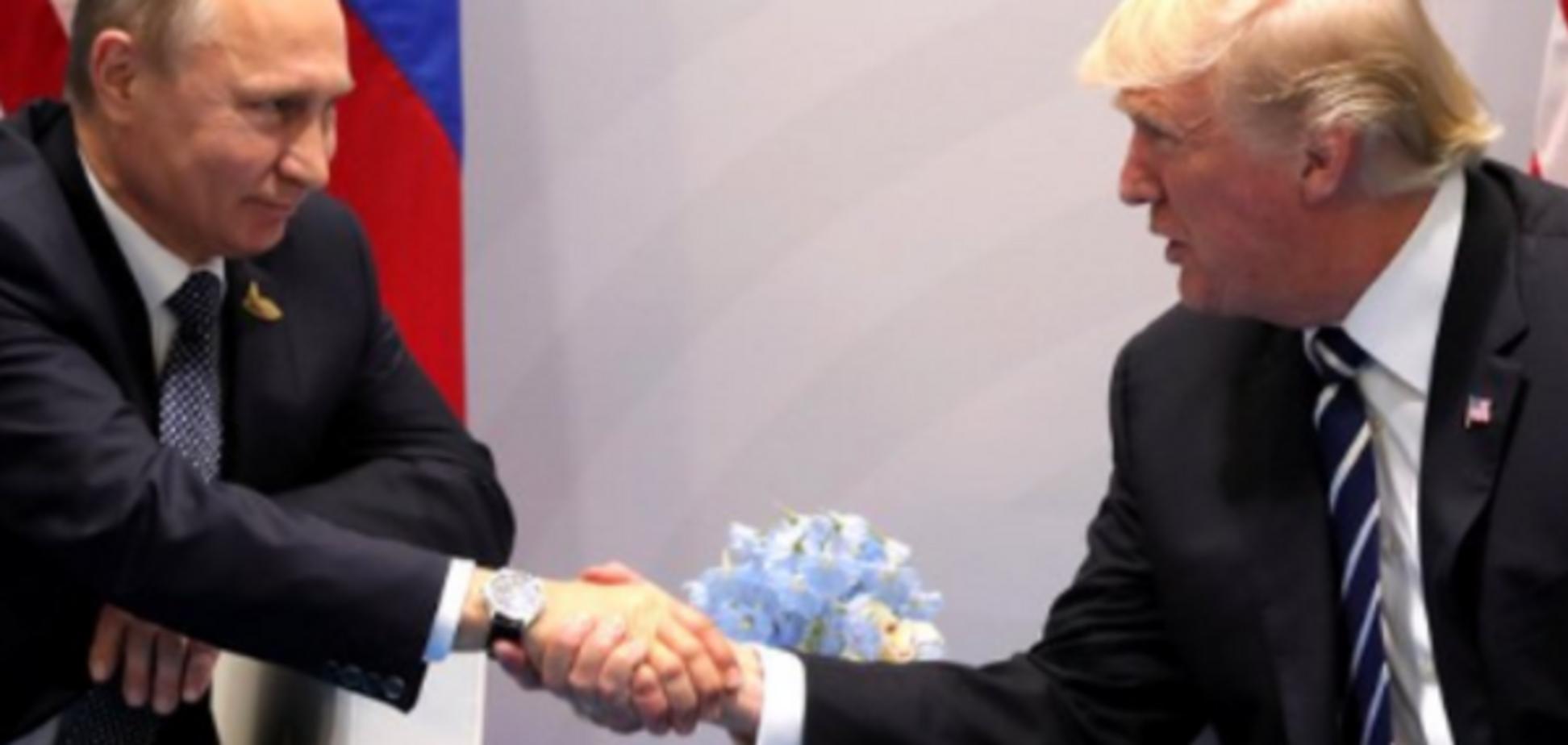 Розклали рукостискання Путіна з Трампом на молекули: росТБ розсмішило мережу