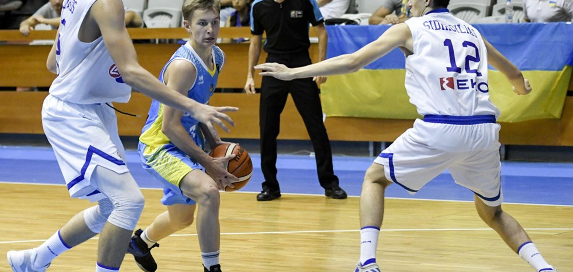 Украина драматично проиграла в четвертьфинале Евробаскета U-16