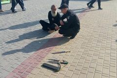 На Кіровоградщині чоловік намагався принести себе в жертву богу на міській площі