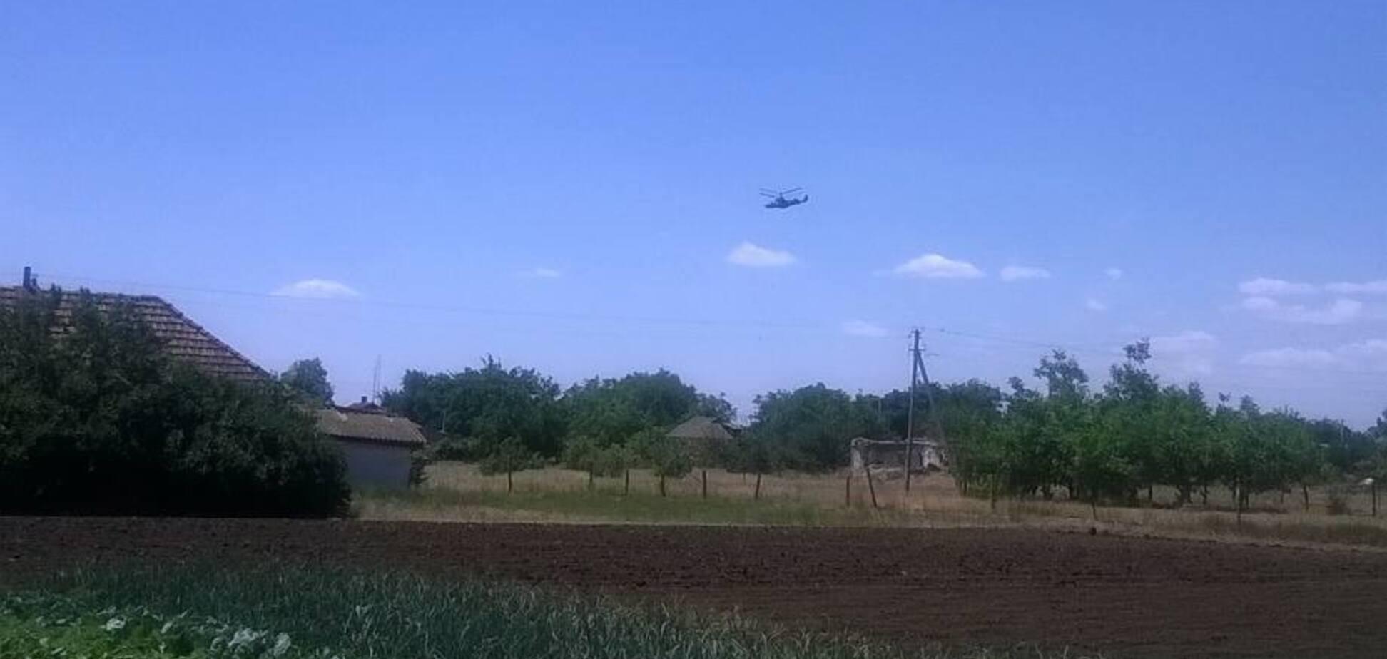 Российский боевой вертолет над Украиной: журналисты установили точное место пролета