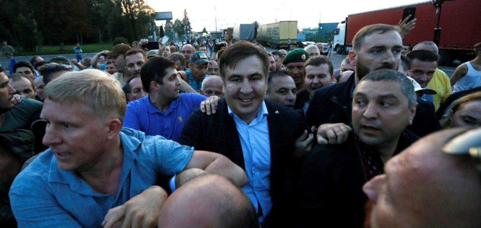 'Правой руке' Саакашвили вручили подозрение по делу о прорыве границы: появилось видео