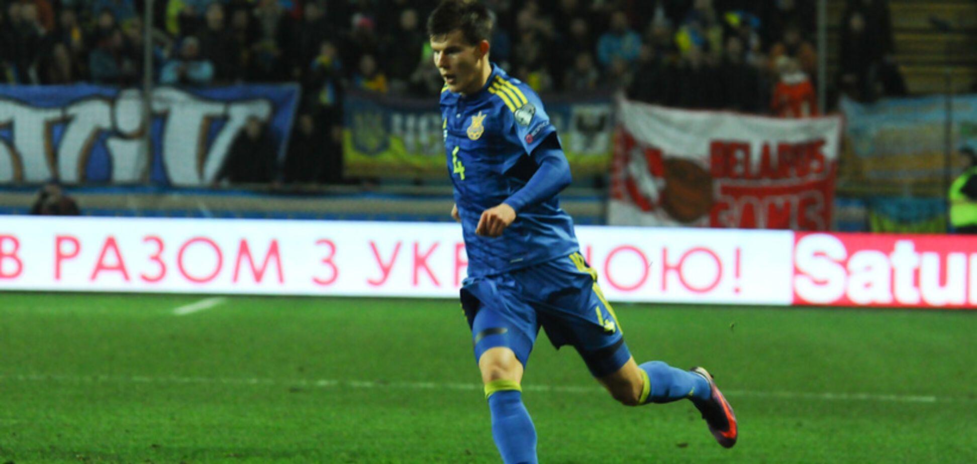 Футболист сборной Украины вошел в топ-11 игроков Лиги Европы
