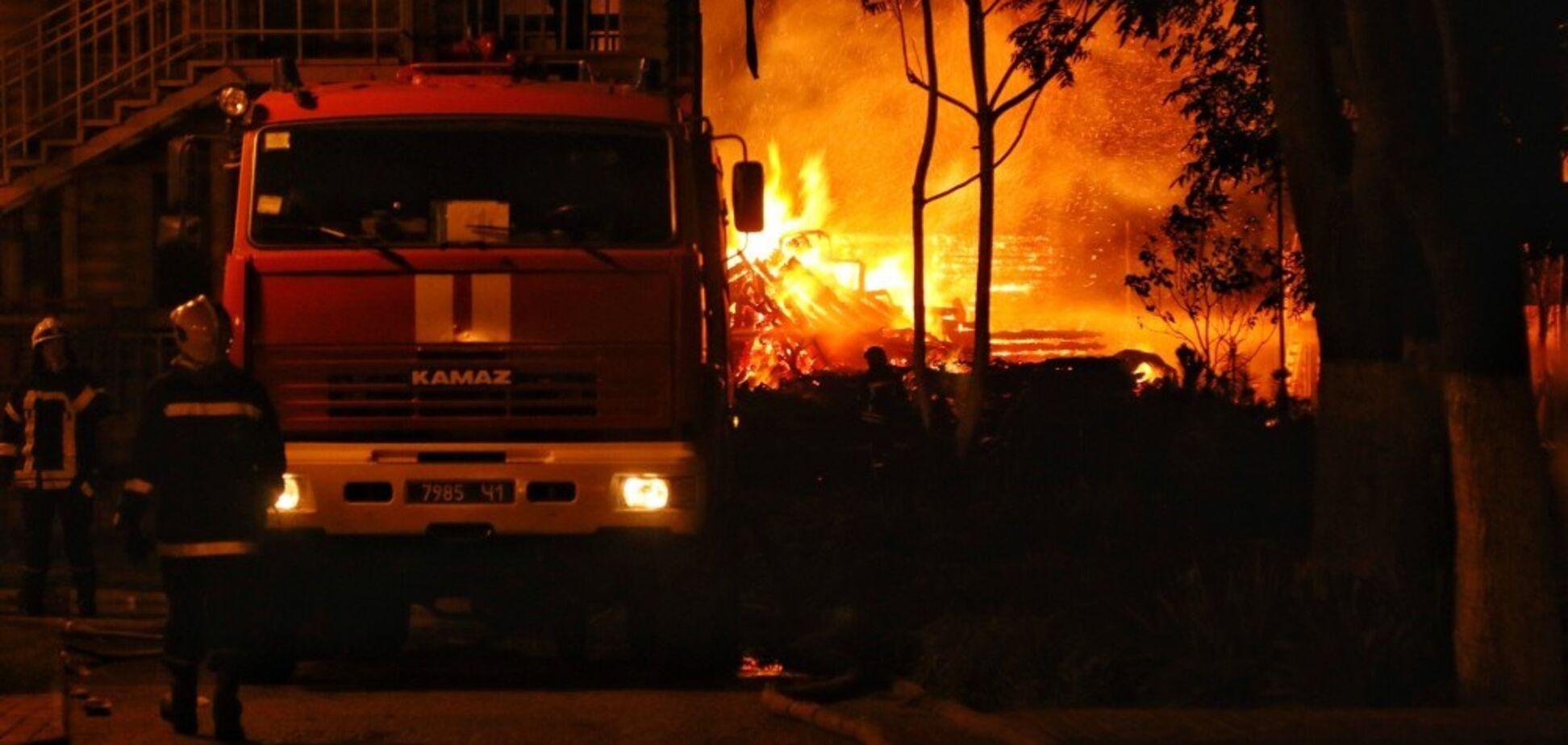 Пожежа в таборі Вікторія