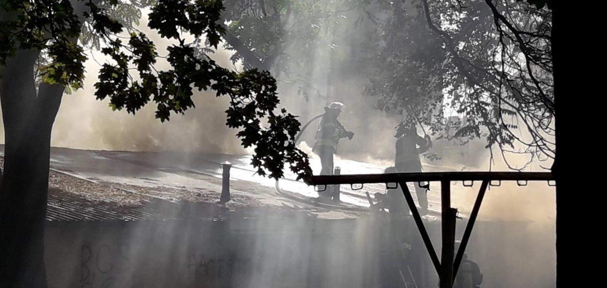 В центре Запорожья бушевал пожар