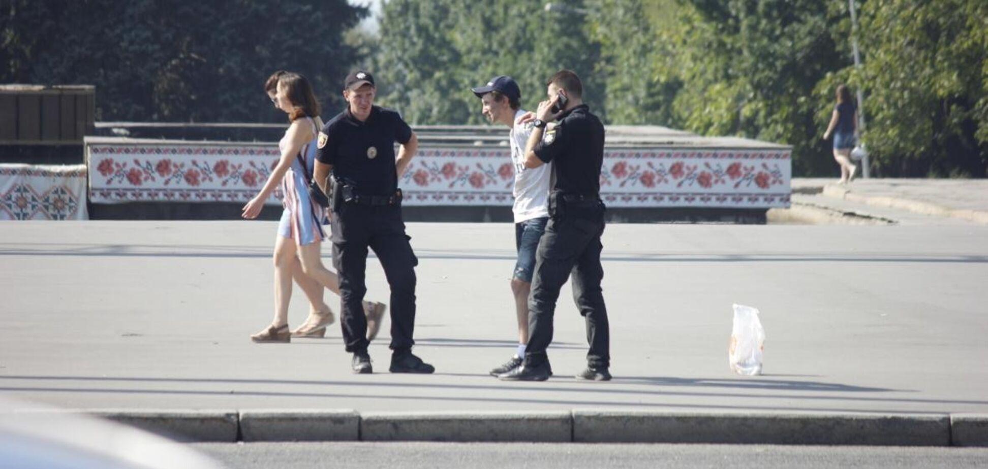 В Запорожье патрульные устроили погоню за грабителем в центре города (ВИДЕО)