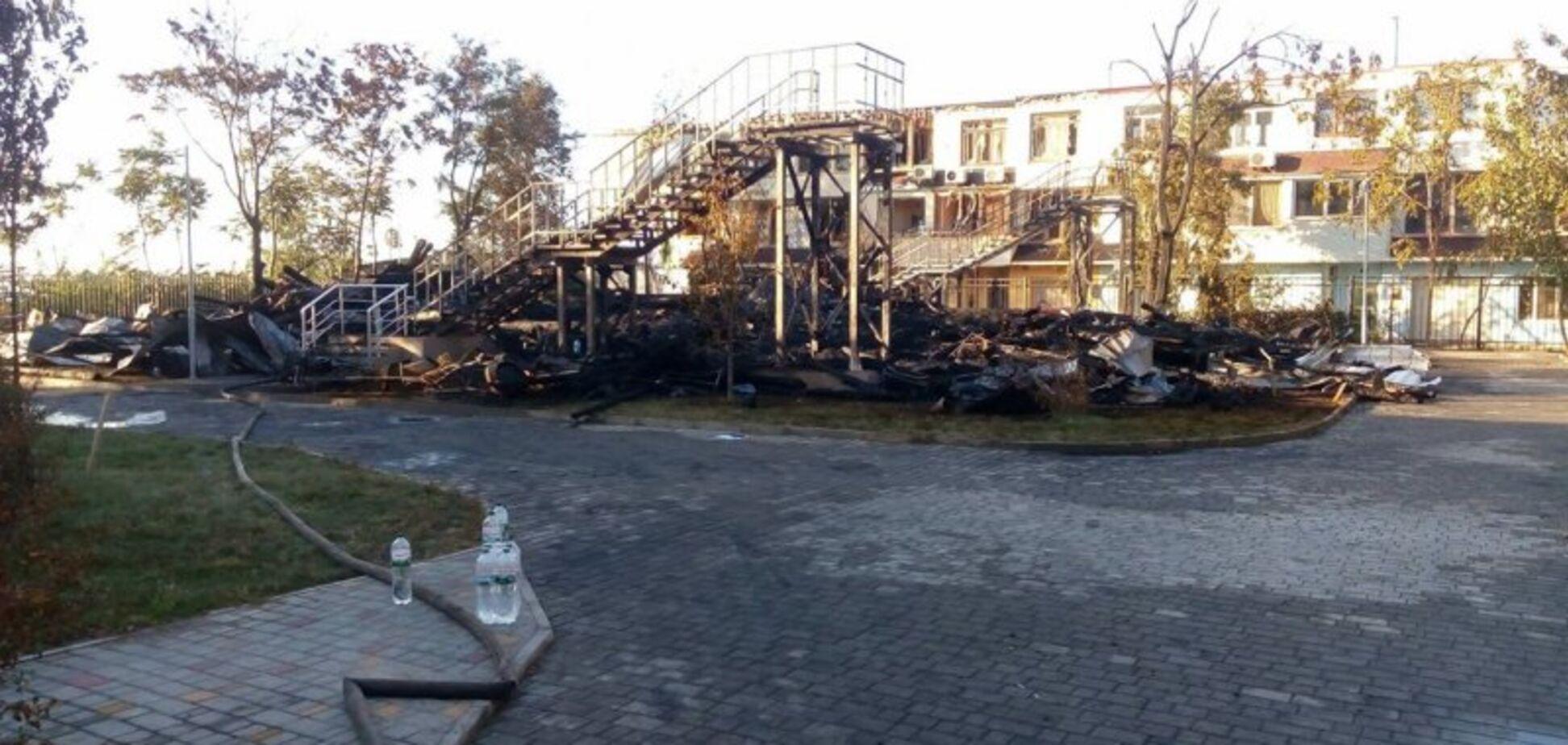 Пожежа в таборі 'Вікторія'