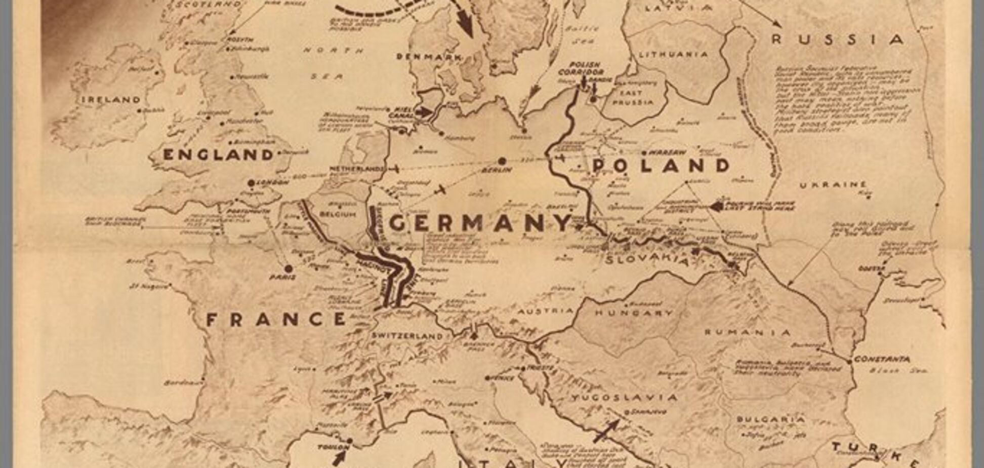 Карта, що показує театр війни
