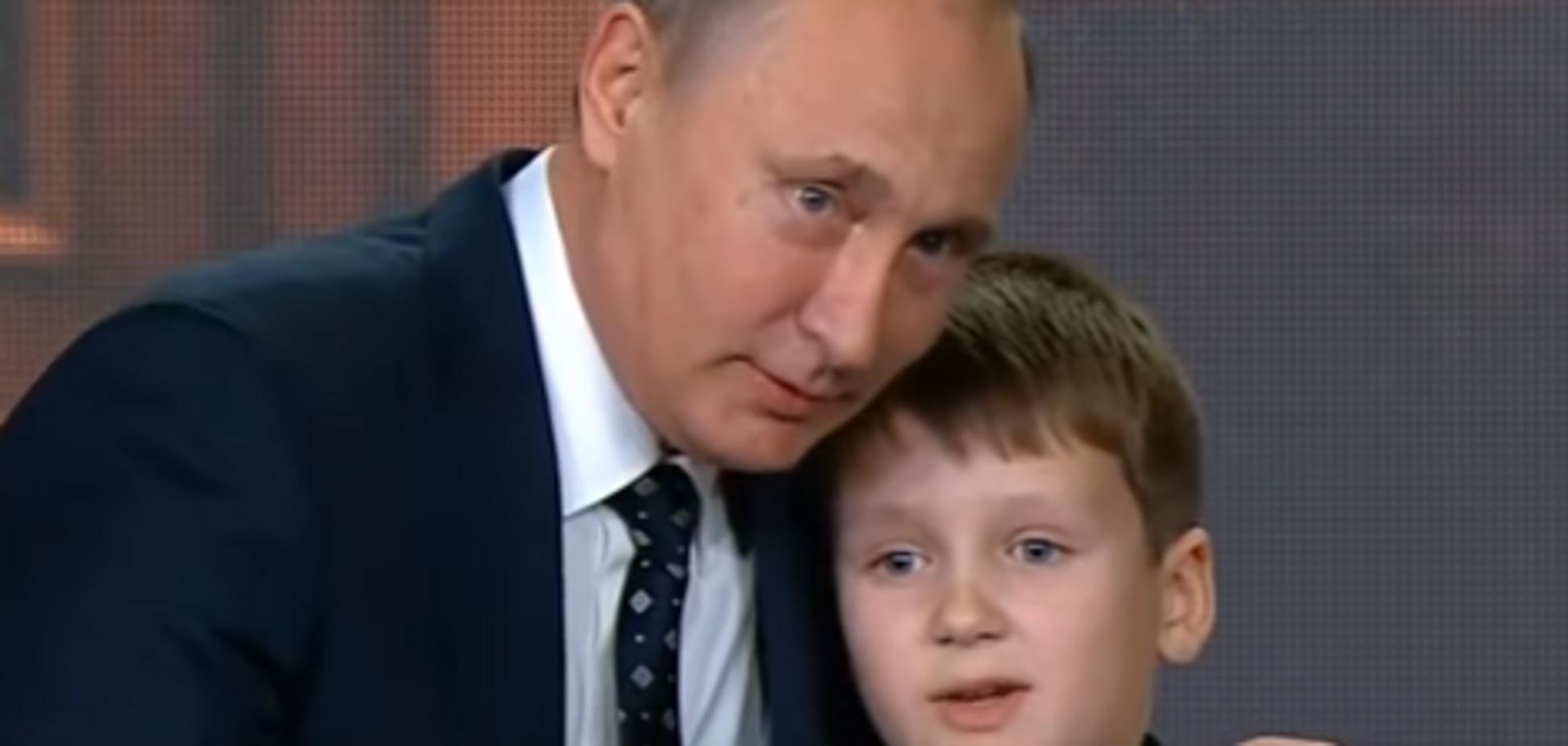 'Ну, любить неповнолітніх': Путін влаштував 'обіймашки' з хлопчиком