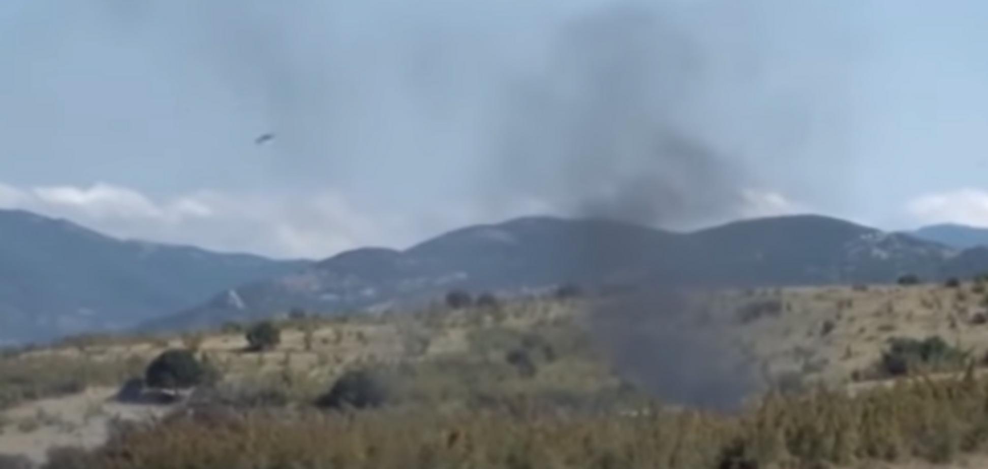 Появилось видео с места авиакатастрофы в Греции, в которой погибли украинцы
