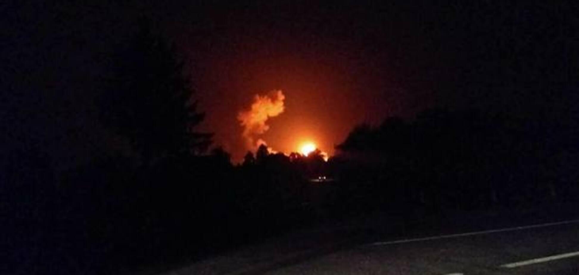 У СБУ розповіли про вибухи на військових складах під Вінницею