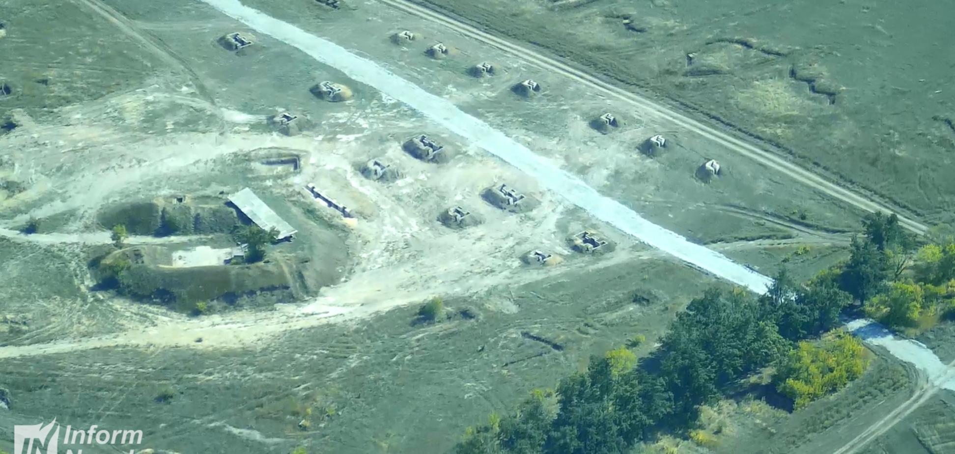 Зняли з дрона: аеророзвідка показала заборонені бойові машини окупантів на Донбасі
