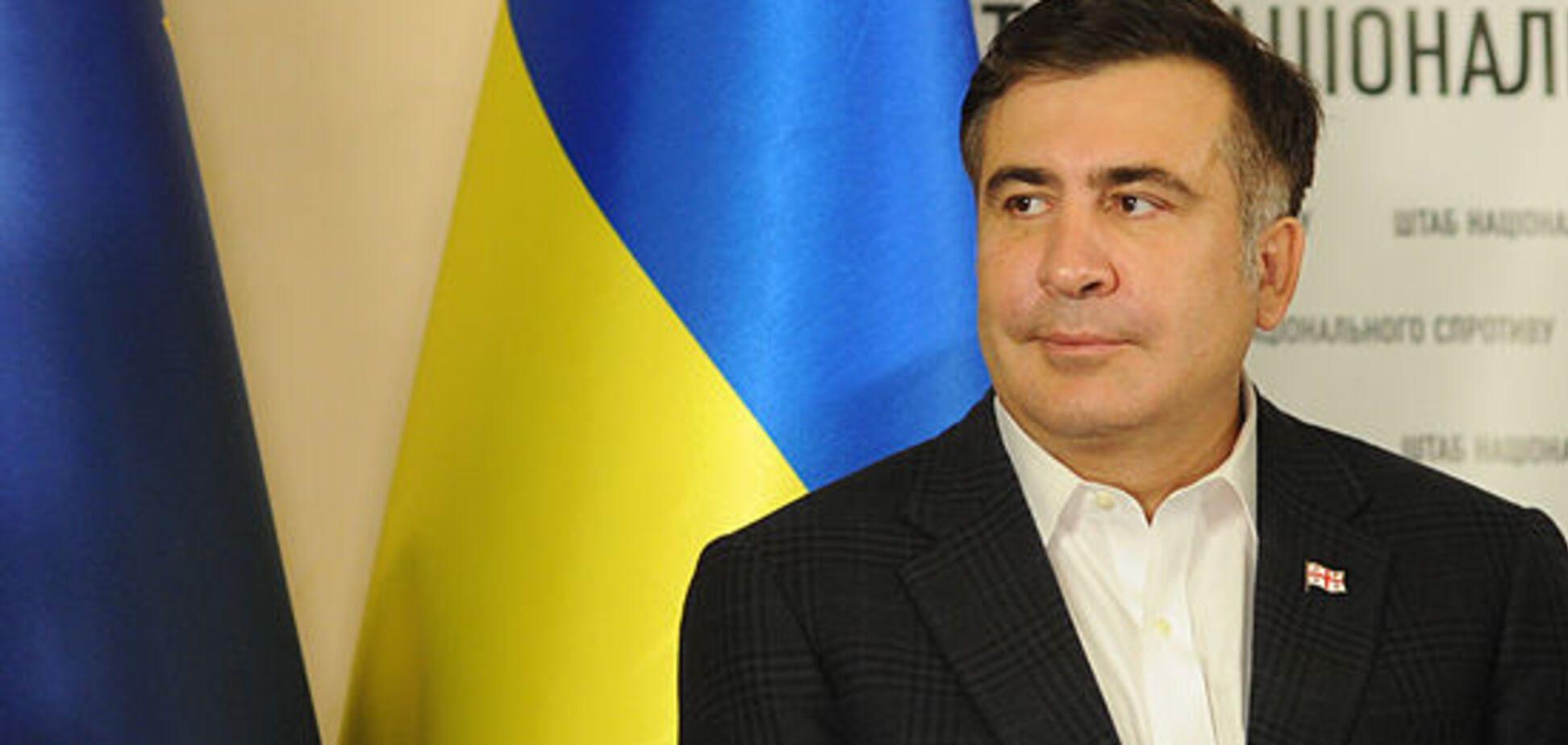 В Днепре Саакашвили оскорбил ветеранов АТО
