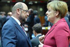 Меркель и Шульц