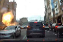 Момент вибуху 'ворога Кадирова' в Києві потрапив на реєстратор: унікальне відео