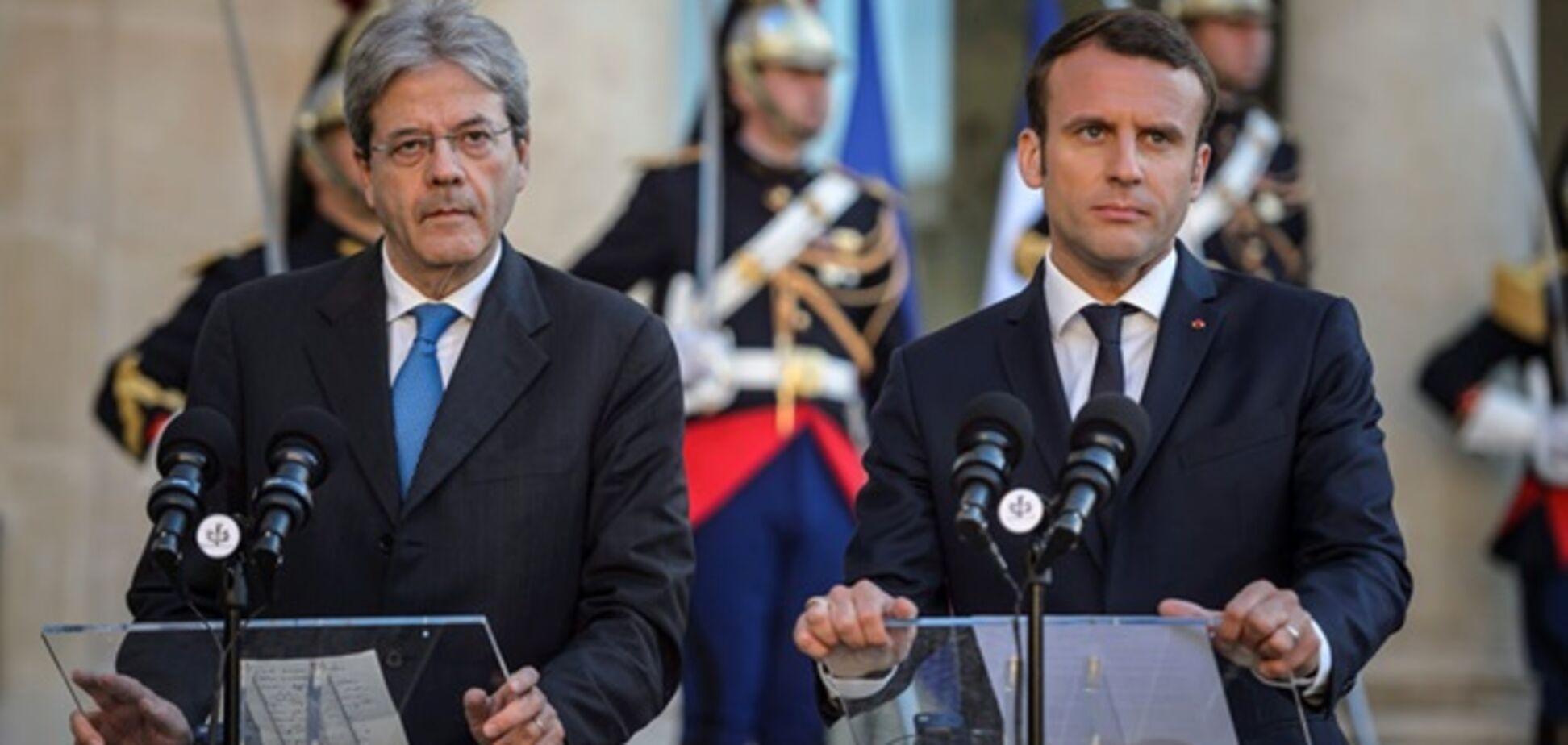 Зустріч Макрона з прем'єром Італії
