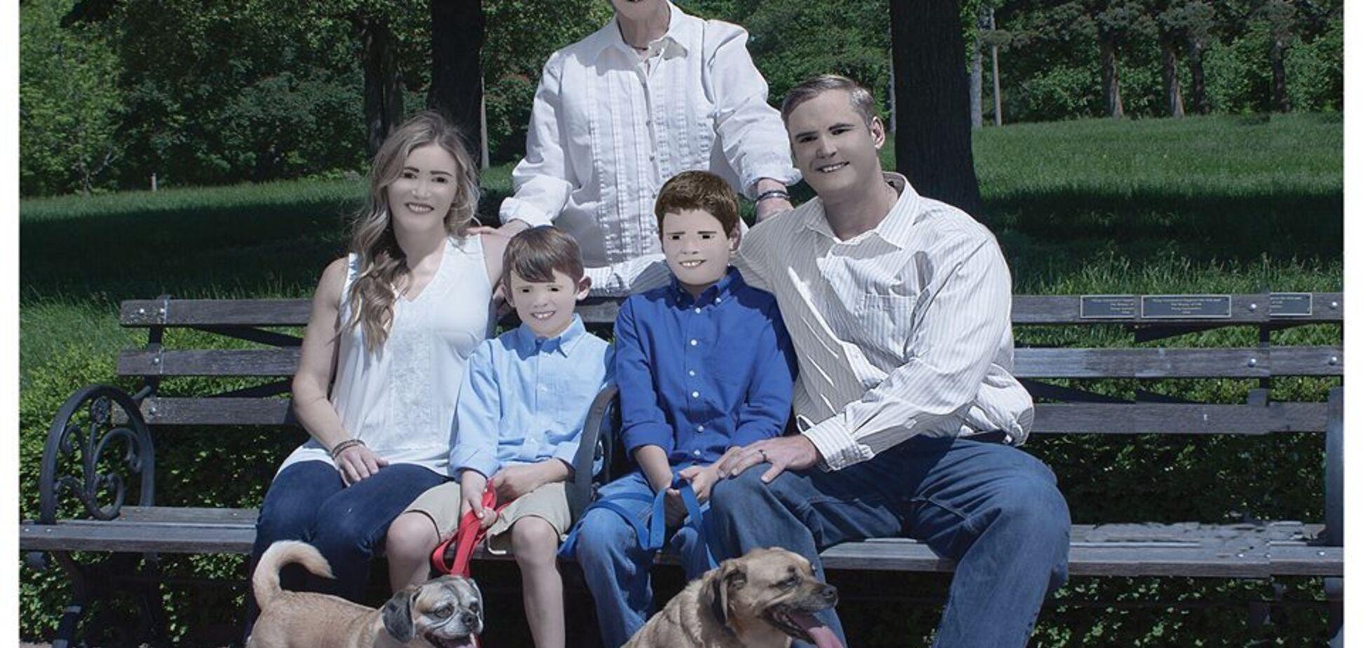 Фотосессия американской семьи довела сеть до истерики