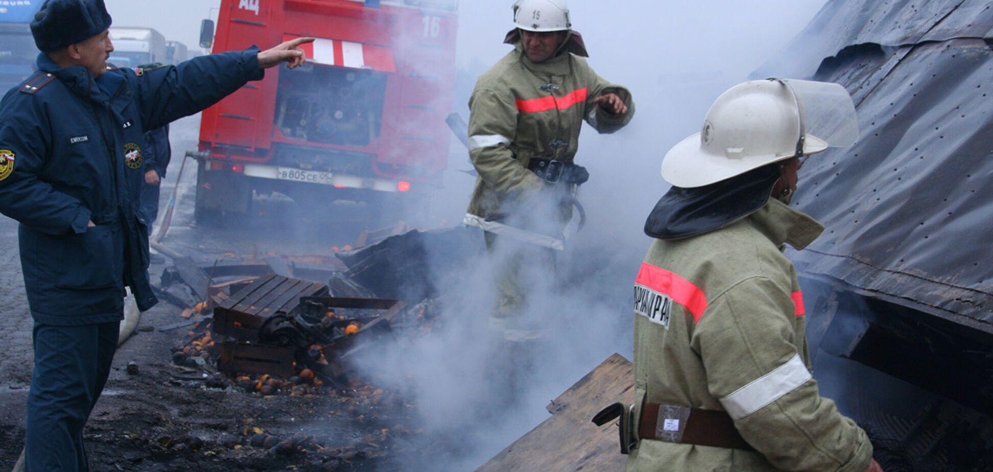 Казахстан сгорел автобус
