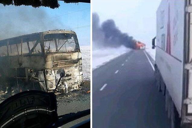 Автобус, в котором сгорели 52 человека