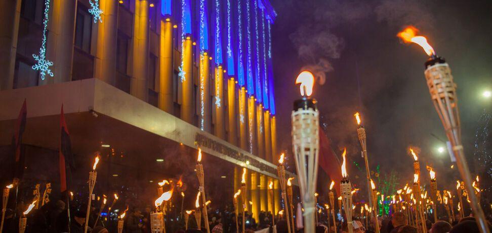 Факельный марш в Днепре глазами человека из оккупации