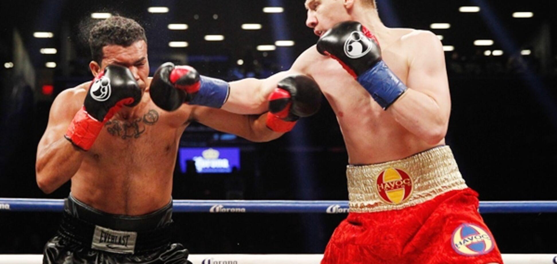 Знаменитий український боксер здобув яскраву перемогу у США: відео нокауту