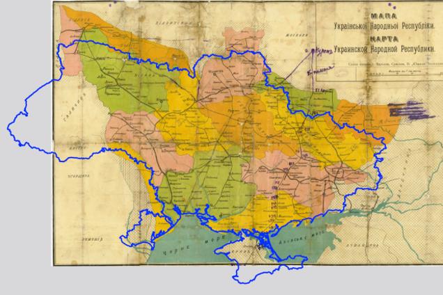 Карта Украинской народной республики