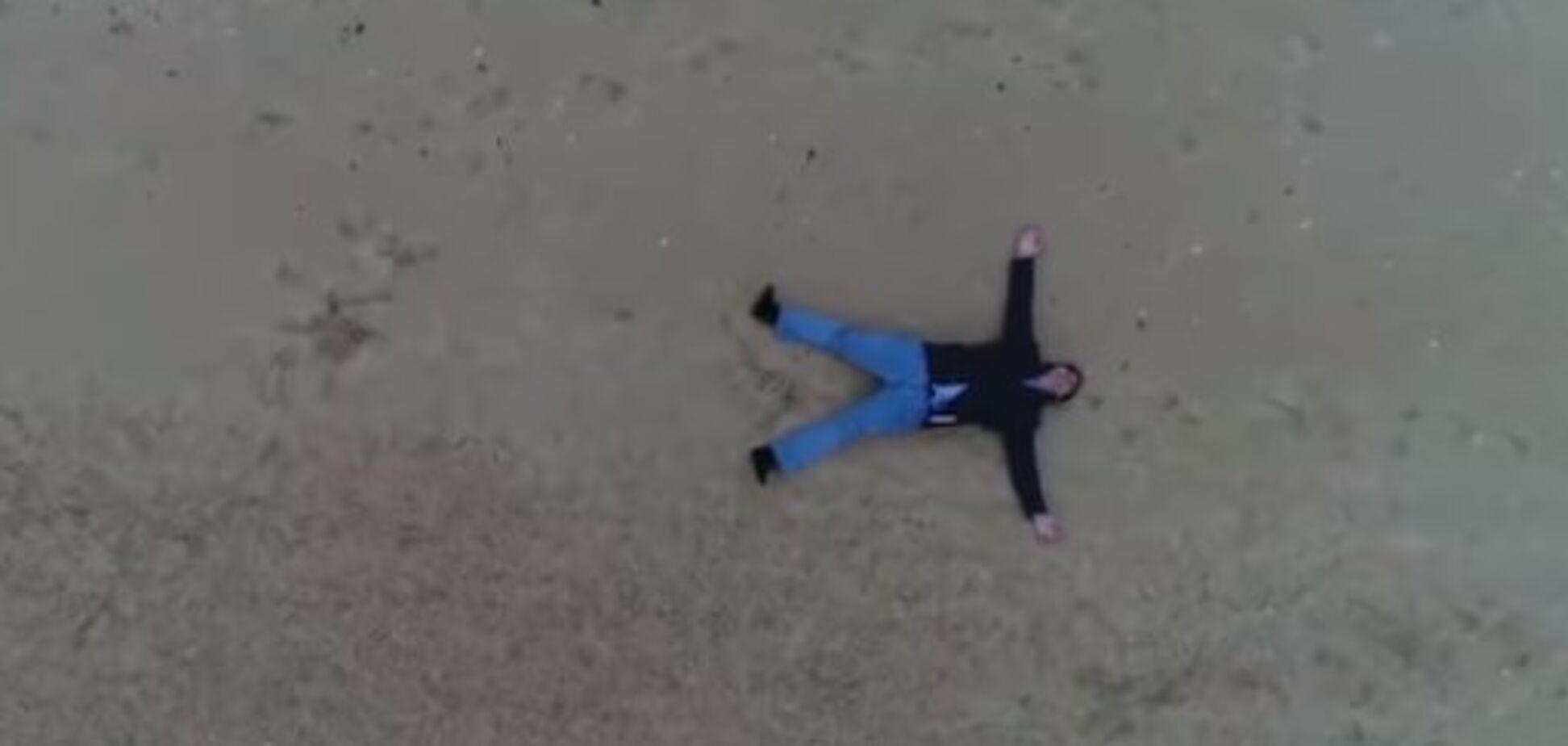 Саакашвили на пляже