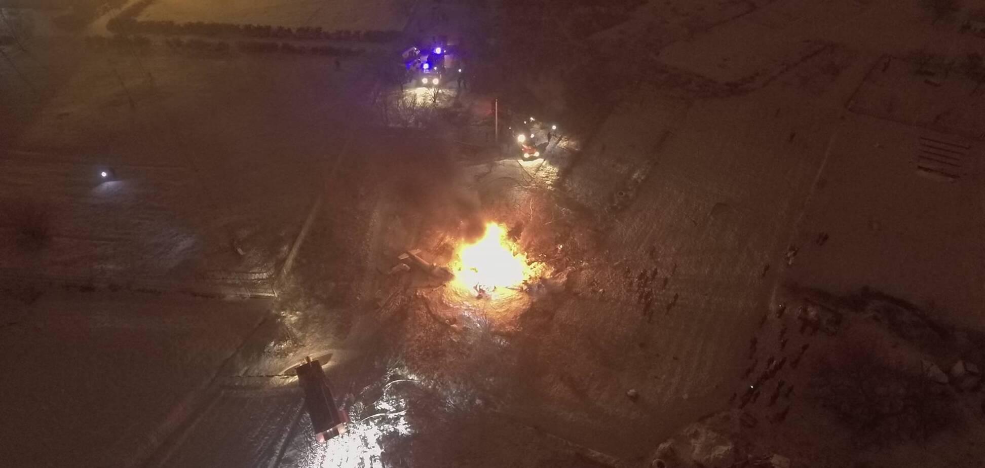 У Кременчуці розбився вертоліт: всі подробиці, фото і відео
