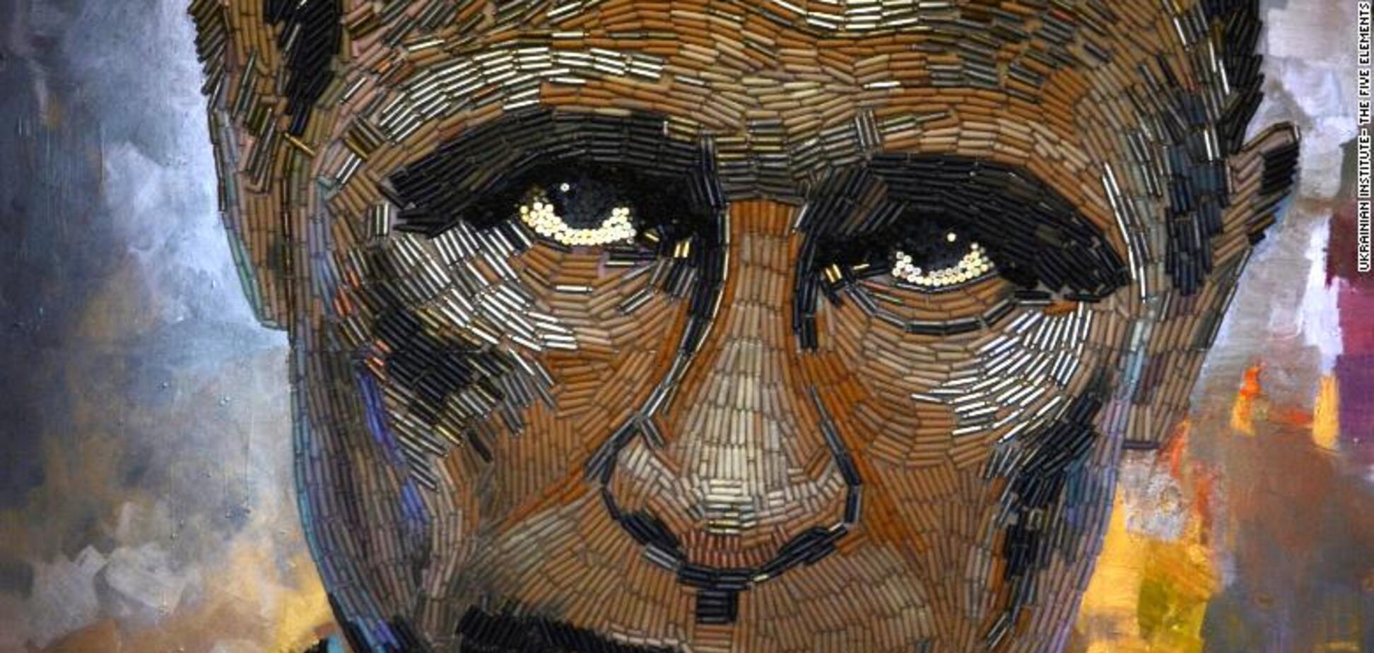 Портрет Путина из гильз