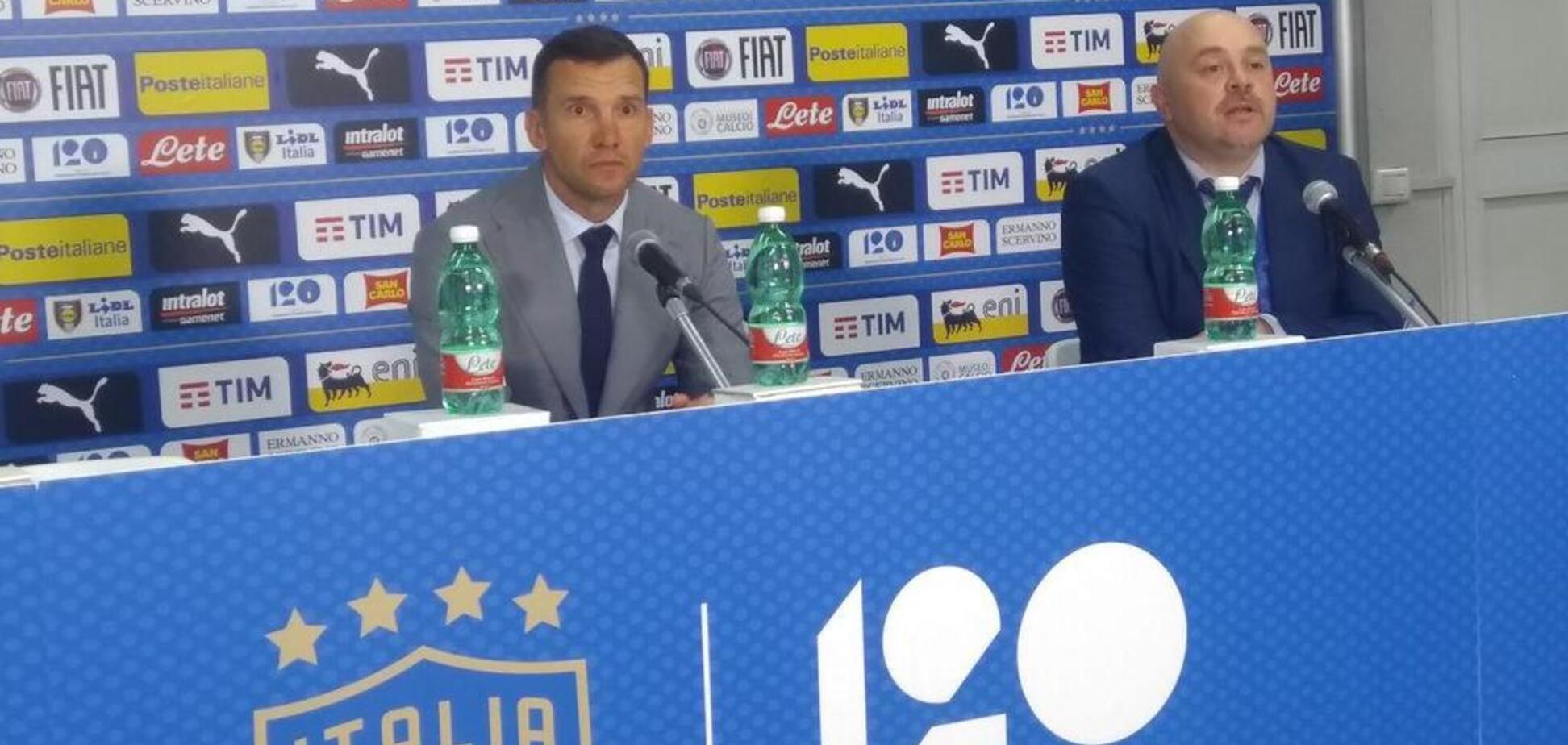 Шевченко прокоментував нічию із Італією