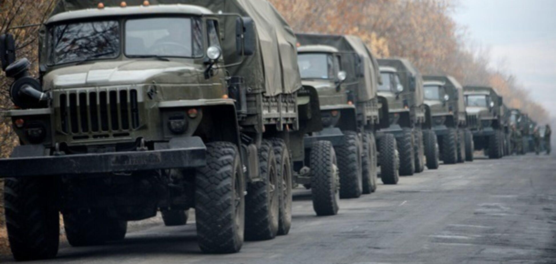 На Донбассе засекли новую колонну российской техники