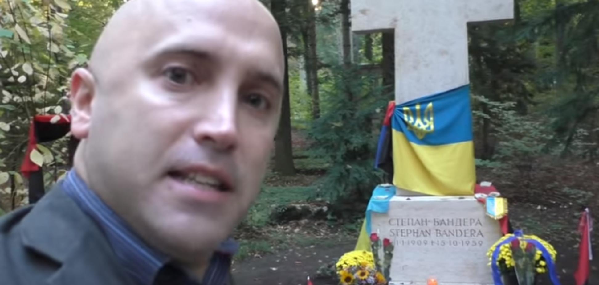 Скандальний кремлівський пропагандист осквернив могилу Бандери: з'явилося відео