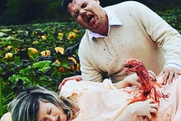 ''Родила Чужого'': пара из Канады устроила кровавую фотосессию беременности