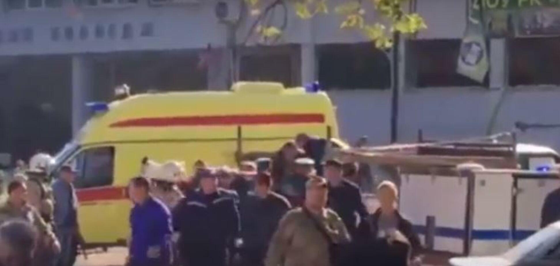 З'явилося перше відео з місця смертельного вибуху у Керчі
