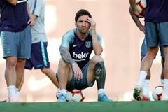 Месси устроил скандал в 'Барселоне'