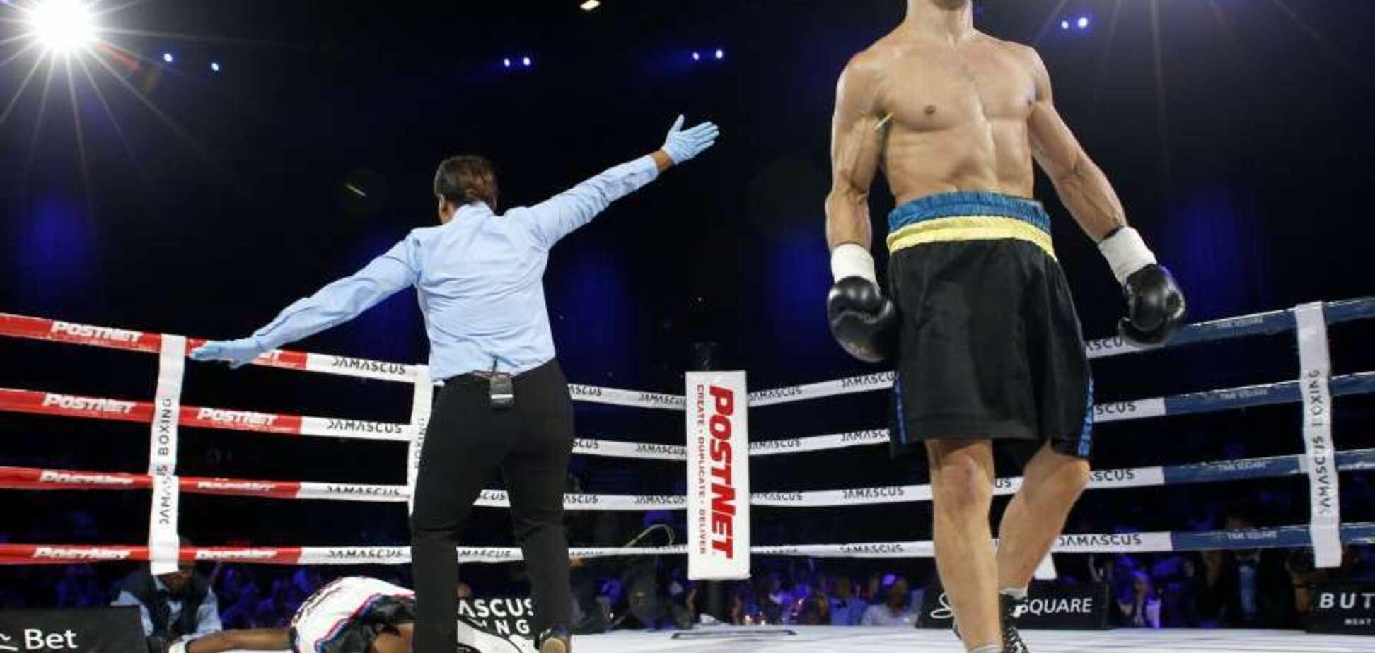 Вирубив: непереможний український боксер здобув перемогу брутальним нокаутом — відеофакт