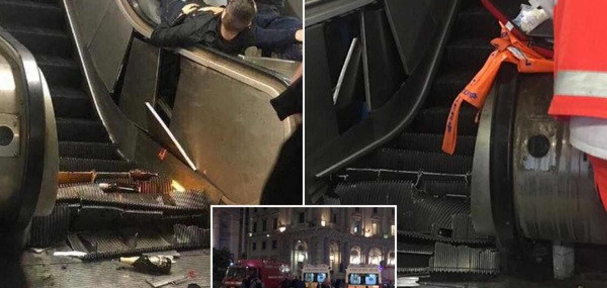Разорвало ногу: украинцы и россияне угодили в кровавое месиво в Риме перед матчем ЛЧ - фото и видео 18+