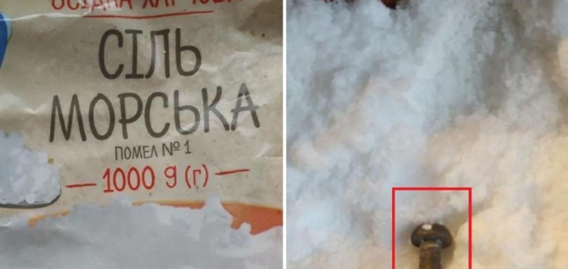 В известном украинском супермаркете продают соль с болтами