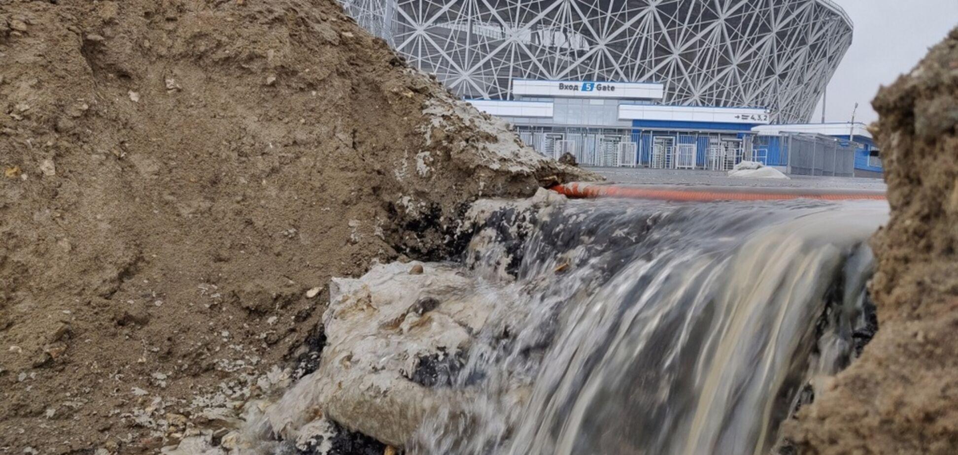 В России легкий дождь ''размыл'' стадион ЧМ-2018 за 16 млрд
