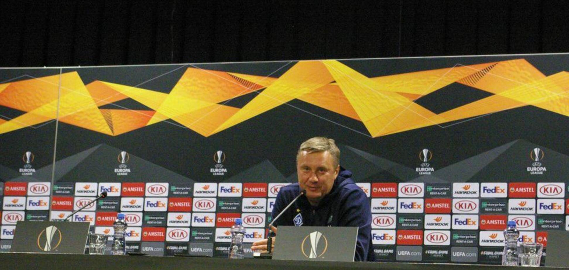 ''Давайте визначимося'': Хацкевич висловився про майбутню гру 'Динамо' в Лізі Європи