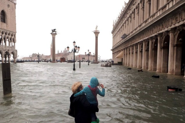 Венеция утопает из-за непогоды: опубликованы пугающие фото