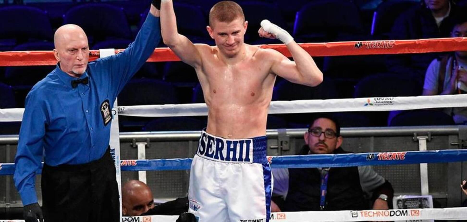 Непобедимый украинский боксер выиграл бой нокаутом в 1-м раунде