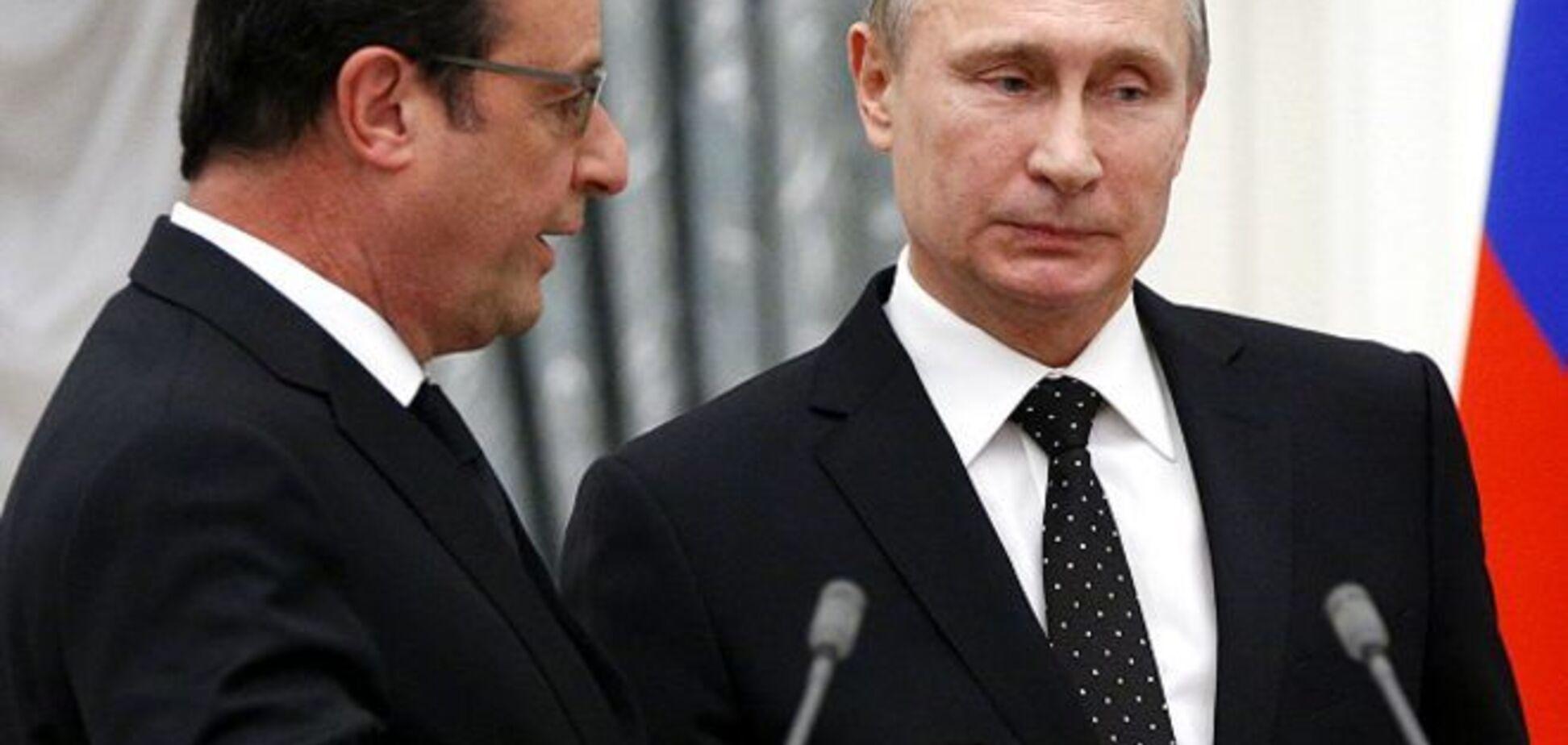 Олланд назвав головну мету Путіна в Україні