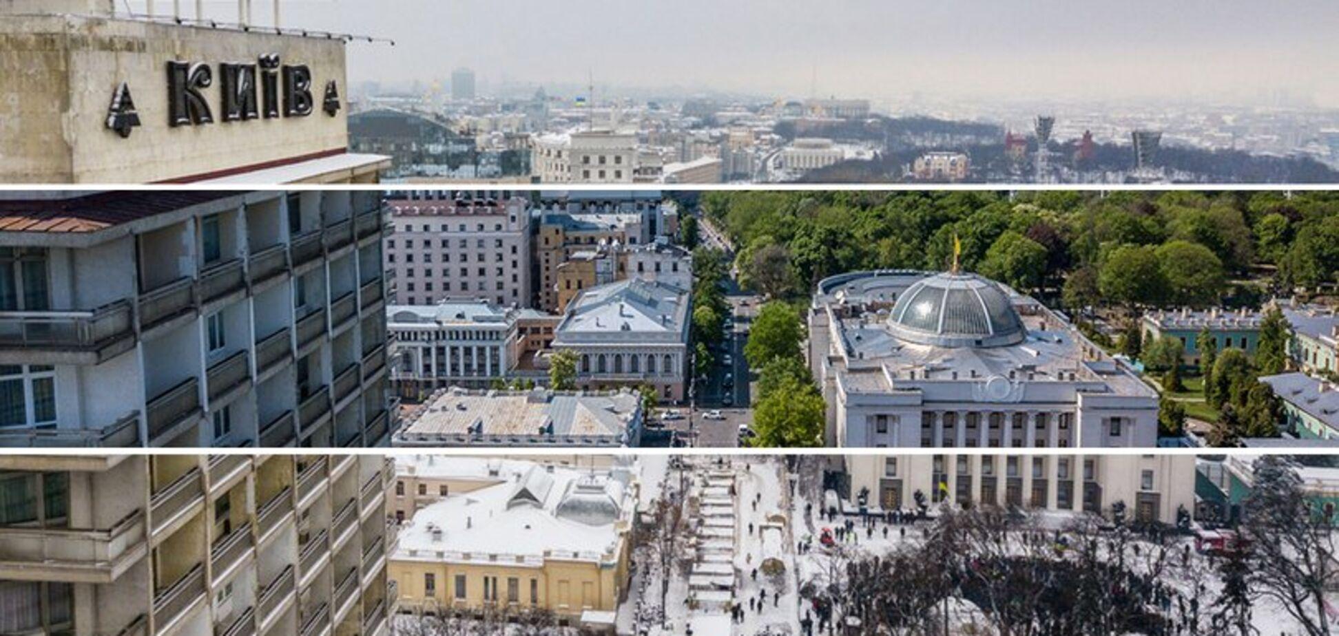 Київ взимку і влітку: фото з висоти пташиного польоту в різні пори року
