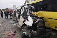 ДТП с 13 жертвами в России: момент жуткой аварии попал на видео
