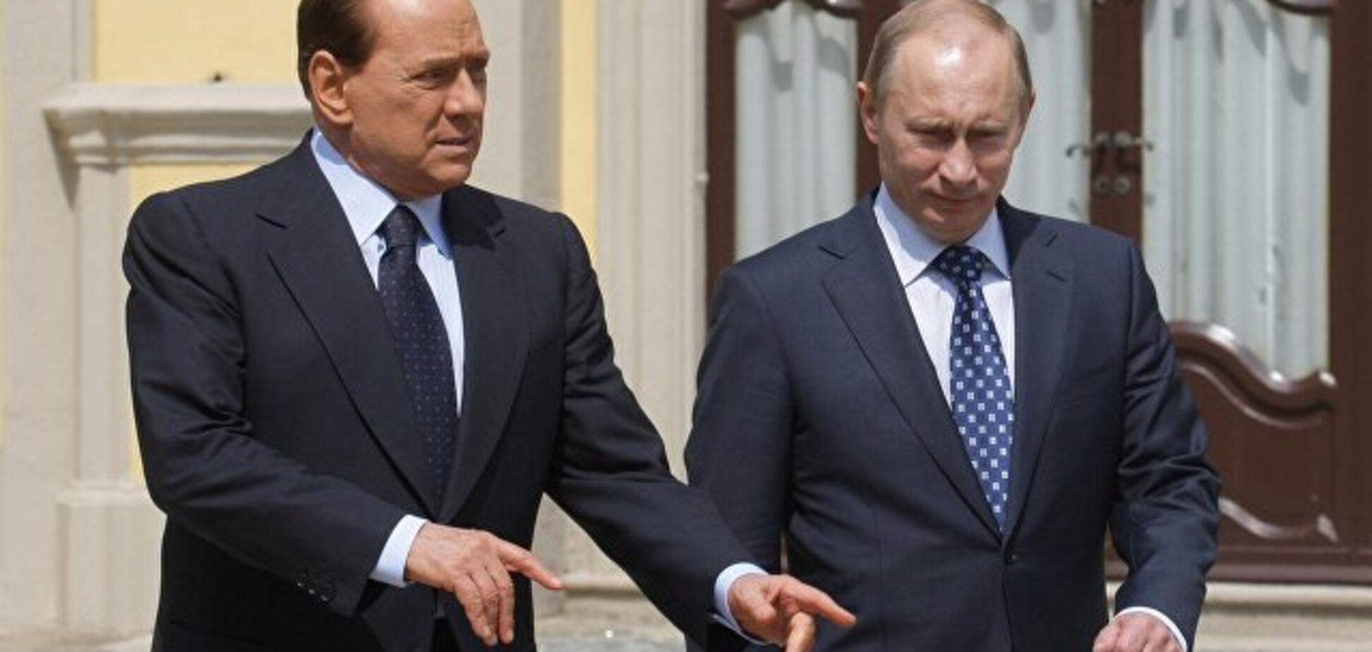 ''Черное море — не черное'': Берлускони похвастался фото с элитной дачи Путина