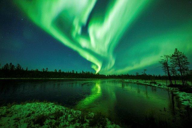 Северное сияние в Финляндии: уникальные фотографии