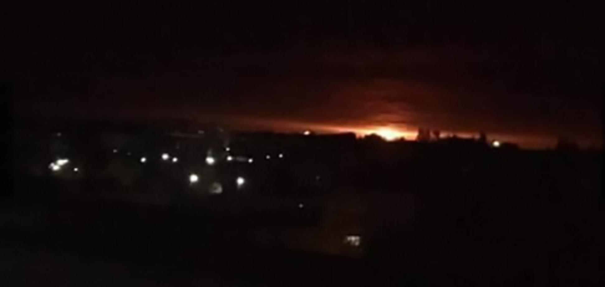 Вибухи боєприпасів в Ічні: перші відео з місця НП