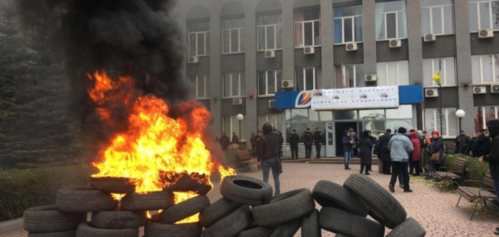 В Кривом Роге жители подожгли шины и устроили бунт: что произошло